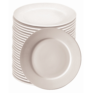 Plain white crockery
