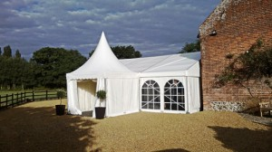 Norfolk wedding marquee hire for extending a room